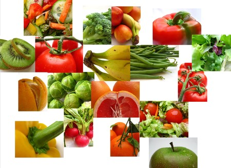 fruit and vegetable collage Stock Photo - 4357549