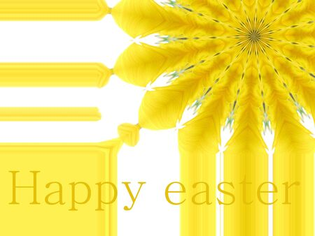 greeting card in abstract design Happy Easter photo
