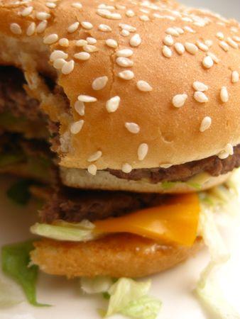 half a burger Stock Photo - 4466859