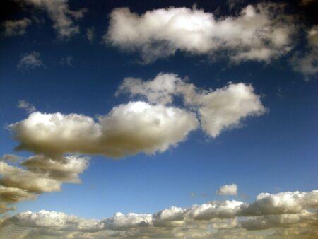 cloud drift: some clouds in a blue sky