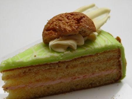marzipan liquor cake with an almond cookie Stock Photo - 4618053