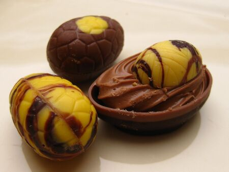 easter chocolate pralines  photo