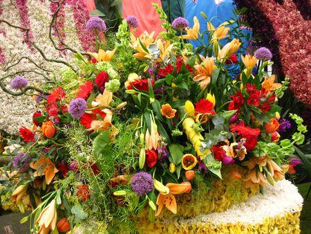 flower parade: Flower arrangement on flower parade
