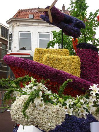 flower parade: Floral float on flower parade