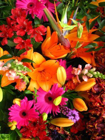 Flower arrangement on flower parade photo