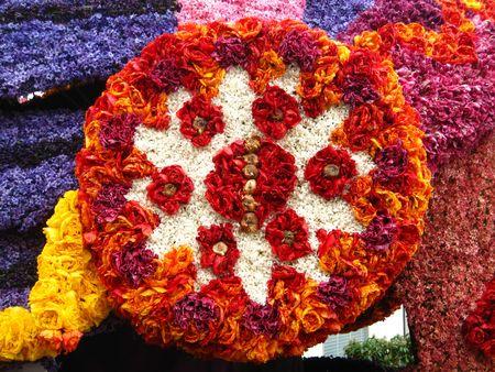 Flower arrangement on flower parade