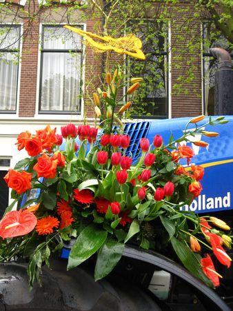 hyacints narcissus: Floral float on flower parade