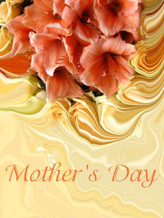 Mother's day card with abstract bouquet Stock Photo - 4772711