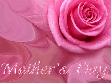 ecard: Festa della mamma con carta astratta rosa rosa Archivio Fotografico