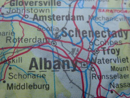 American cities on map: Albany, New York photo
