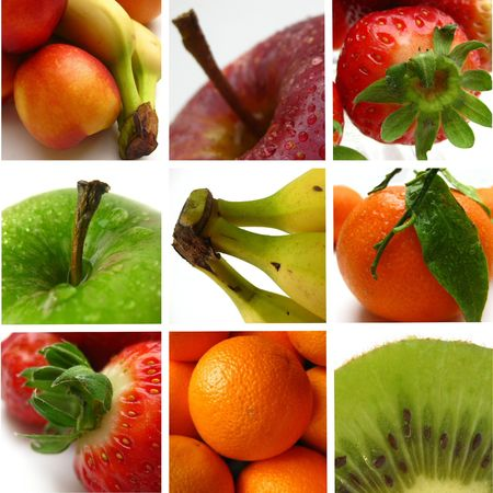 Fruit collage (greeting card) Stock Photo - 4801970