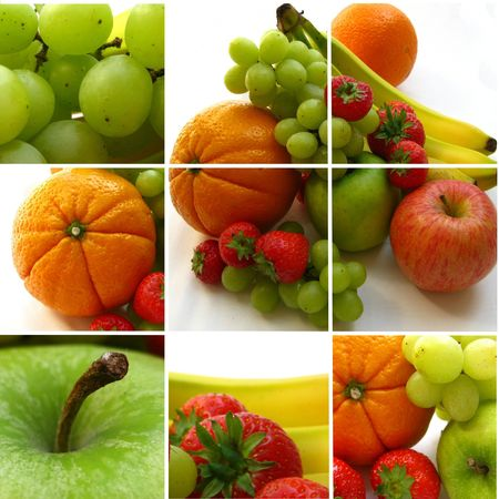 citrus family: Fruit collage (greeting card)