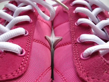 pair of pink sneakers Stock Photo - 4823387