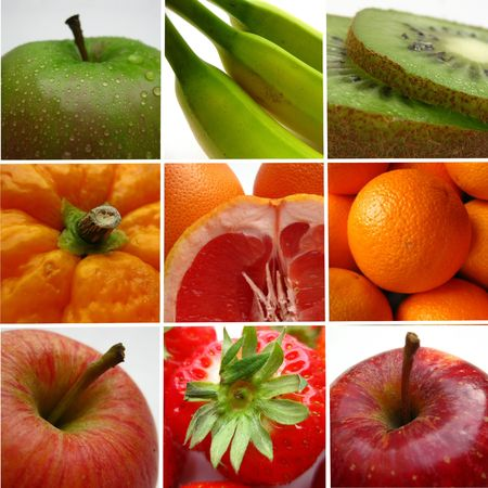Fruit collage (greeting card) photo