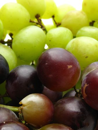 red and white grapes Stock Photo - 4860371
