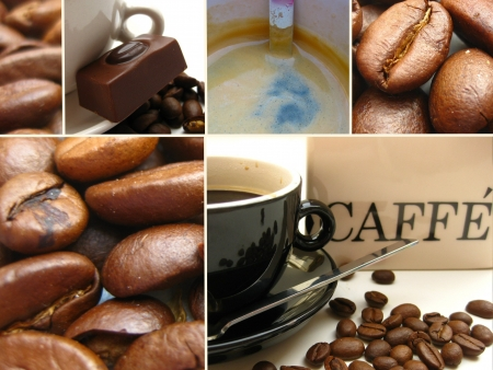 Coffee collage Stock Photo - 4901414