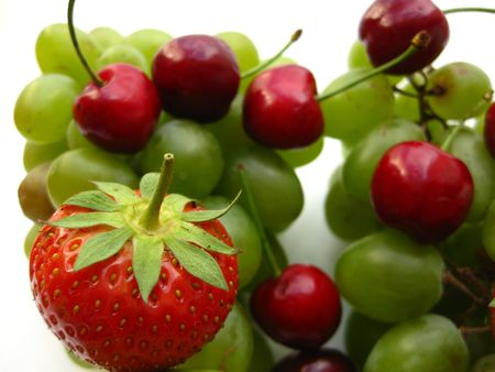 strawberry, cherries and grapes Stock Photo - 4952570