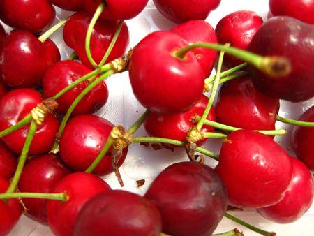 cherries (background) Stock Photo - 4952653