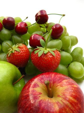 red and green fruits Stock Photo