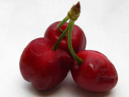 cherry triplets Stock Photo - 4980510