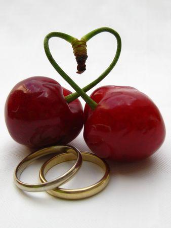 wedding bands: bandas de boda y el coraz�n de cerezas