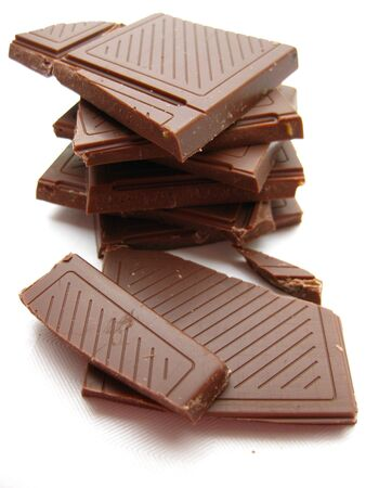 pieces of a chocolate bar photo