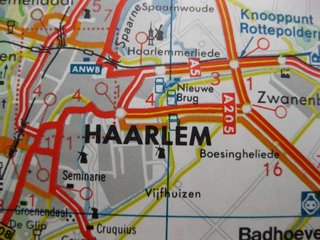 Europe In Seven Days: Map Of Haarlem, The Netherlands Stock Photo ...