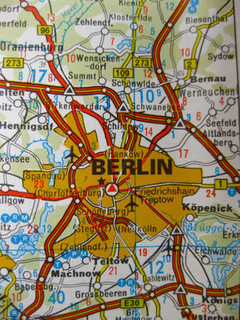 Europe in seven days: map of Berlin, Germany photo