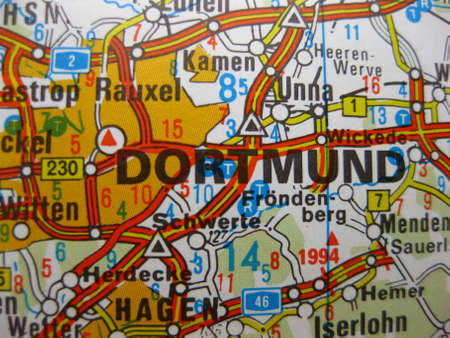 Europe in seven days: map of Dortmund, Germany photo