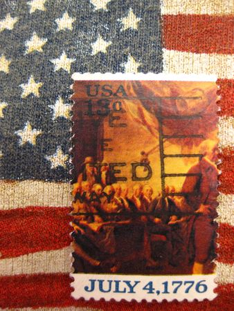 July 4, 1776 Stamp Stock Photo - 4998421
