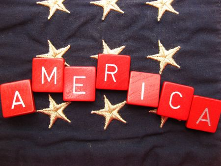 America spelled over stars  Stock Photo - 5012240