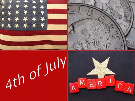 Fourth of July greeting card Stock Photo - 5012251