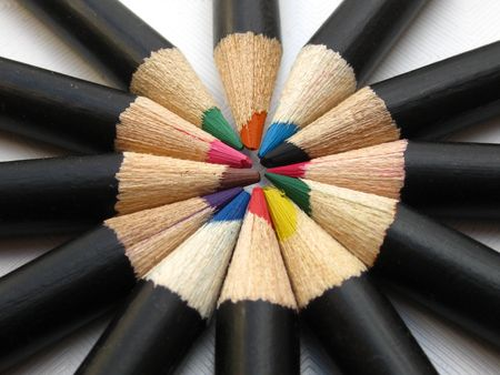 pencils in a circle photo