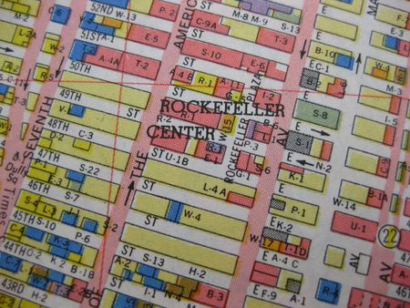 Vintage map of New York, Rockefeller photo