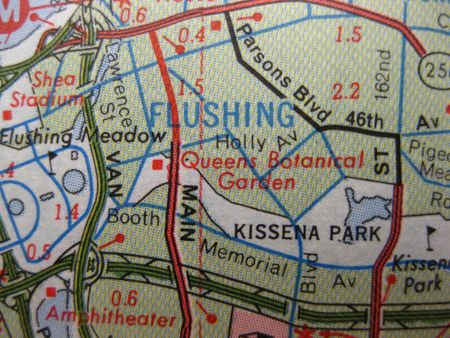 Vintage map of Flushing, Queens, New York photo