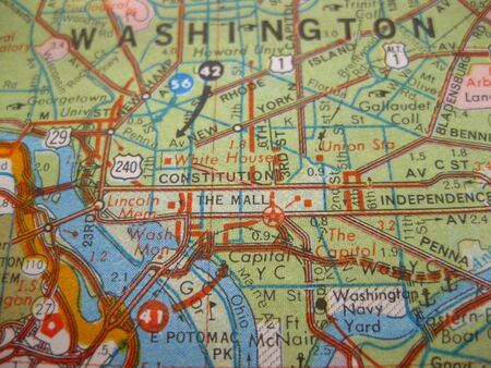 Vintage map of Washington DC photo
