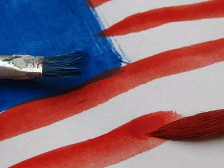 painting the stars and stripes Stock Photo - 5105558