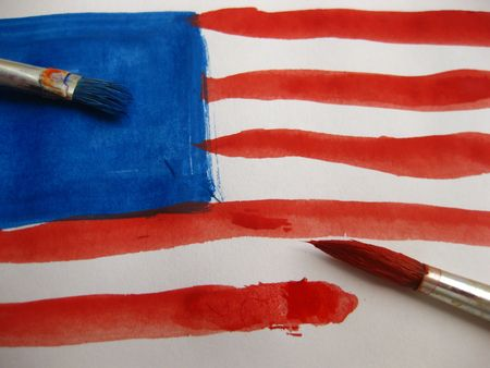 painting the stars and stripes Stock Photo - 5105539