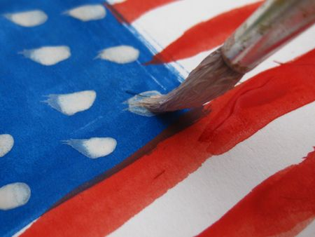painting the stars on the stripes Stock Photo - 5105637