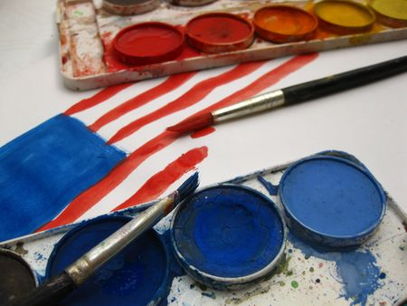 Painting the flag Stock Photo - 5128140