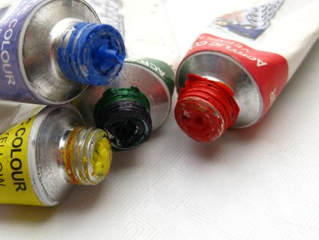 basic paint colors in tubes photo