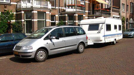 mpv: Car and caravan, panorama size