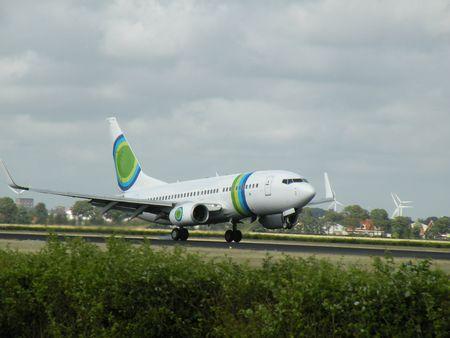 plane on the runway photo
