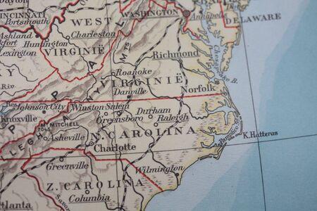 Vintage USA map photo