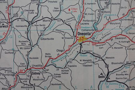 Vintage map Oneonta, NY photo