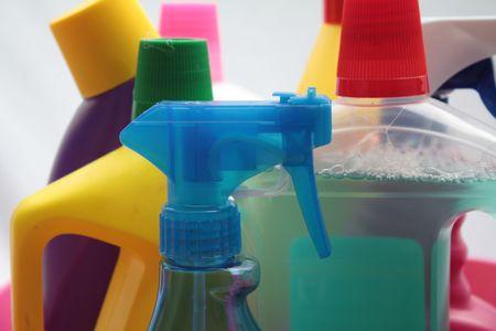 d�sinfectant: Bouteilles de d�tergent
