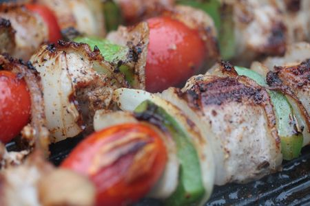 lean out: meat on the grill