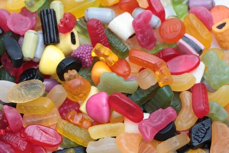 assorted candy collection, perfect background photo