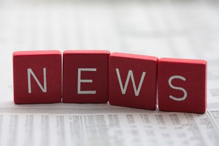 news reporter: News! Stock Photo