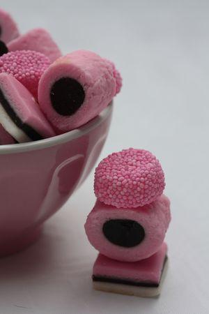 pink liquorice allsorts photo
